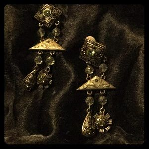 VINTAGE 1928 Chandelier Earrings (clip on)